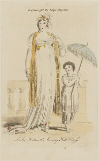 'London Fashionable Evening Full Dress', published in The Lady's Magazine - NPG D47536