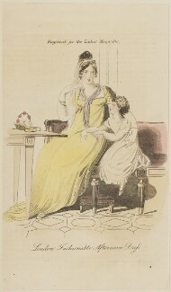'London Fashionable Afternoon Dress', published in The Lady's Magazine - NPG D47535