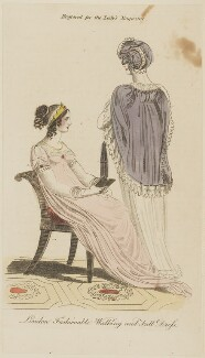 'London Fashionable Walking and Full Dress', 1807, published in The Lady's Magazine - NPG D47528