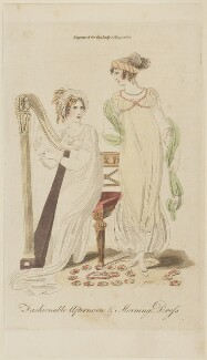 'Fashionable Afternoon & Morning Dress', 1807, published in The Lady's Magazine - NPG D47534