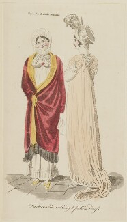 'Fashionable walking & full Dress', November 1806, published in The Lady's Magazine - NPG D47523