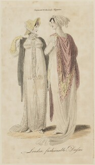 'London fashionable Dresses', September 1806, published in The Lady's Magazine - NPG D47524