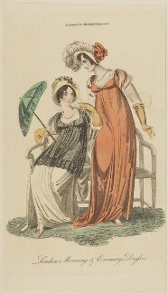'London Morning & Evening Dresses', May 1805, published in The Lady's Magazine - NPG D47526