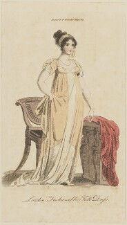 'London Fashionable Full Dress', August 1805, published in The Lady's Magazine - NPG D47527
