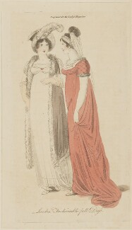 'London Fashionable full Dress', February 1806, published in The Lady's Magazine - NPG D47531