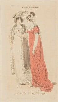 'London Fashionable full Dress', February 1806, published in The Lady's Magazine - NPG D47531