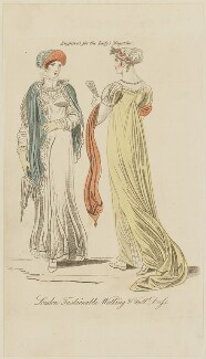 'London Fashionable Walking & Full Dress', July 1809, published in The Lady's Magazine - NPG D47533