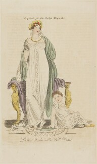 'London Fashionable Full Dress', September 1809, published in The Lady's Magazine - NPG D47537
