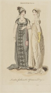 'London fashionable Afternoon Dresses', April 1805, published in The Lady's Magazine - NPG D47538
