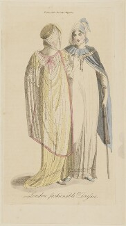 'London fashionable Dresses', July 1806, published in The Lady's Magazine - NPG D47540