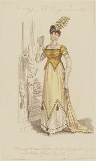 'Evening Full Dress June 1809', published by John Bell, published in  La Belle Assemblée or Bell's Court and Fashionable Magazine - NPG D47544