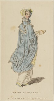 'Morning Walking Dress', July 1810, published by John Bell, published in  La Belle Assemblée or Bell's Court and Fashionable Magazine - NPG D47546