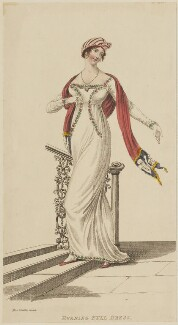 'Evening Full Dress' designed by Miss Blacklin, March 1811, published by John Bell, published in  La Belle Assemblée or Bell's Court and Fashionable Magazine - NPG D47549