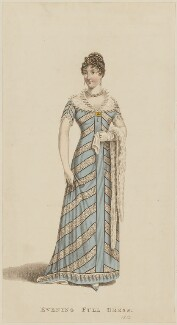 'Evening Full Dress', December 1811, published by John Bell, published in  La Belle Assemblée or Bell's Court and Fashionable Magazine - NPG D47550