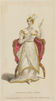 'Evening Full Dress', January 1812, published by John Bell, published in  La Belle Assemblée or Bell's Court and Fashionable Magazine - NPG D47551