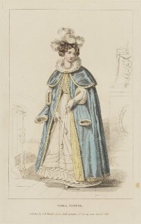 'Opera Costume', March 1826, probably by William Read, published by  George Byrom Whittaker, published in  La Belle Assemblée or Bell's Court and Fashionable Magazine - NPG D47580