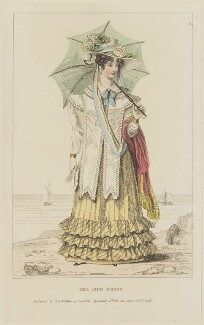 'Sea Side Dress', October 1826, probably by William Read, published by  George Byrom Whittaker, published in  La Belle Assemblée or Bell's Court and Fashionable Magazine - NPG D47581