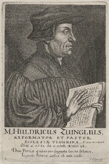 Ulrich Zwingli (Huldrych Zwingli or Ulricus Zuinglius), by Conrad Meyer, after  Hans Asper - NPG D48085