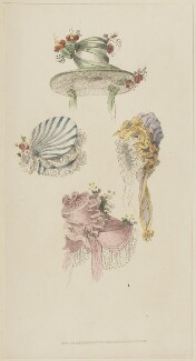 Head-dresses, October 1826, published by Rudolph Ackermann, published in  The Repository of Arts, Literature, Fashions, Manufactures, &c - NPG D47576