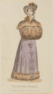 'Walking Dress', January 1825, published by J. Robins & Co, published in  The Ladies' Pocket Magazine - NPG D47552