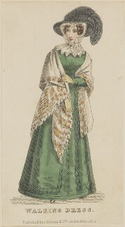 'Walking Dress', March 1825, published by J. Robins & Co, published in  The Ladies' Pocket Magazine - NPG D47554