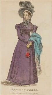 'Walking Dress', April 1825, published by J. Robins & Co, published in  The Ladies' Pocket Magazine - NPG D47555