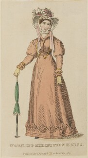 'Morning Exhibition Dress', June 1825, published by J. Robins & Co, published in  The Ladies' Pocket Magazine - NPG D47557