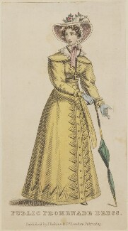 'Public Promenade Dress', July 1825, published by J. Robins & Co, published in  The Ladies' Pocket Magazine - NPG D47558