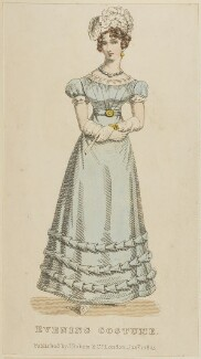 'Evening Costume', January 1825, published by J. Robins & Co, published in  The Ladies' Pocket Magazine - NPG D47562
