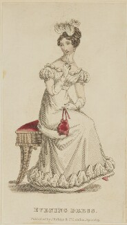 'Evening Dress', April 1825, published by J. Robins & Co, published in  The Ladies' Pocket Magazine - NPG D47565