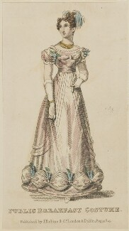 'Public Breakfast Costume', August 1825, published by J. Robins & Co, published in  The Ladies' Pocket Magazine - NPG D47568