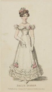 'Ball Dress', September 1825, published by J. Robins & Co, published in  The Ladies' Pocket Magazine - NPG D47569