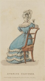 'Evening Costume', October 1825, published by J. Robins & Co, published in  The Ladies' Pocket Magazine - NPG D47570