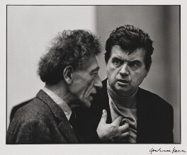 Alberto Giacometti; Francis Bacon, by Graham Keen - NPG x199752
