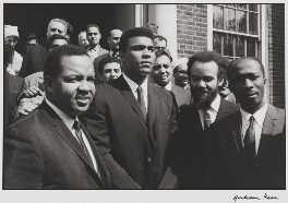 Jabir Herbert Muhammad; Muhammad Ali; Michael X, by Graham Keen - NPG x199759