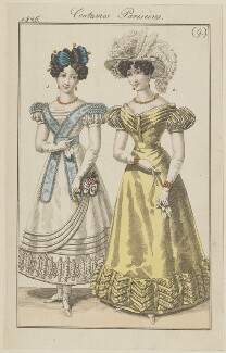 'Costumes Parisiens', number 9, published in Le Journal des Dames et des Modes - NPG D47583