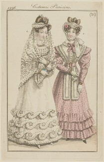 'Costumes Parisiens', number 30, published in Le Journal des Dames et des Modes - NPG D47585
