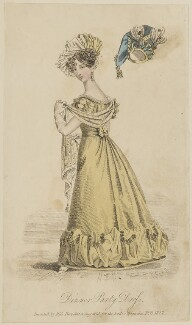 'Dinner Party Dress invented by Miss Pierpoint', March 1827, probably by William Hopwood, published by  S. Robinson, published in  The Lady's Magazine - NPG D47586