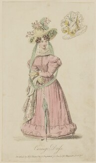 'Carriage Dress invented by Miss Pierpoint', September 1827, probably by William Hopwood, published by  S. Robinson, published in  The Lady's Magazine - NPG D47593