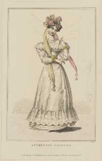 'Afternoon Costume', May 1827, by William Read, published by  George Byrom Whittaker, published in  La Belle Assemblée or Bell's Court and Fashionable Magazine - NPG D47596