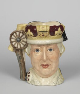 King George III; George Washington, designed by Michael Abberley, manufactured by  Doulton & Co Ltd - NPG D48091