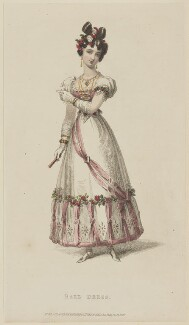 'Ball Dress', December 1827, published by Rudolph Ackermann, published in  The Repository of Arts, Literature, Fashions, Manufactures, &c - NPG D47605