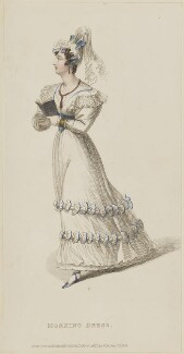 'Morning Dress', September 1828, published by Rudolph Ackermann, published in  The Repository of Arts, Literature, Fashions, Manufactures, &c - NPG D47606