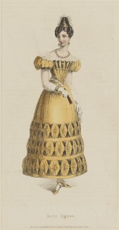 'Ball Dress', January 1828, published by Rudolph Ackermann, published in  The Repository of Arts, Literature, Fashions, Manufactures, &c - NPG D47607