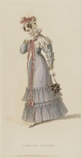 'Carriage Costume', April 1828, published by Rudolph Ackermann, published in  The Repository of Arts, Literature, Fashions, Manufactures, &c - NPG D47608