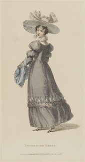 'Promenade Dress', November 1828, published by Rudolph Ackermann, published in  The Repository of Arts, Literature, Fashions, Manufactures, &c - NPG D47613