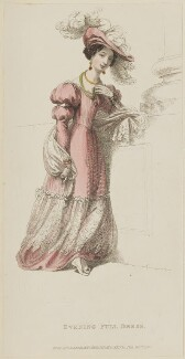 'Evening Full Dress', September 1828, published by Rudolph Ackermann, published in  The Repository of Arts, Literature, Fashions, Manufactures, &c - NPG D47615