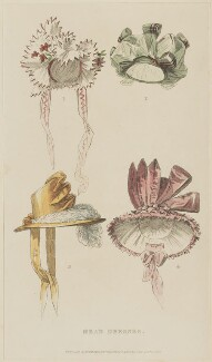 'Head Dresses', October 1828, published by Rudolph Ackermann, published in  The Repository of Arts, Literature, Fashions, Manufactures, &c - NPG D47620