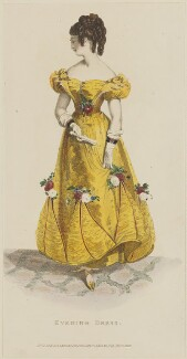 'Evening Dress', December 1828, published by Rudolph Ackermann, published in  The Repository of Arts, Literature, Fashions, Manufactures, &c - NPG D47619