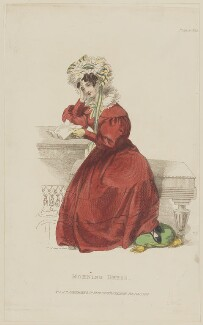 'Morning Dress', February 1829, published by Rudolph Ackermann, published in  R. Ackermann's Repository of Fashions - NPG D47628